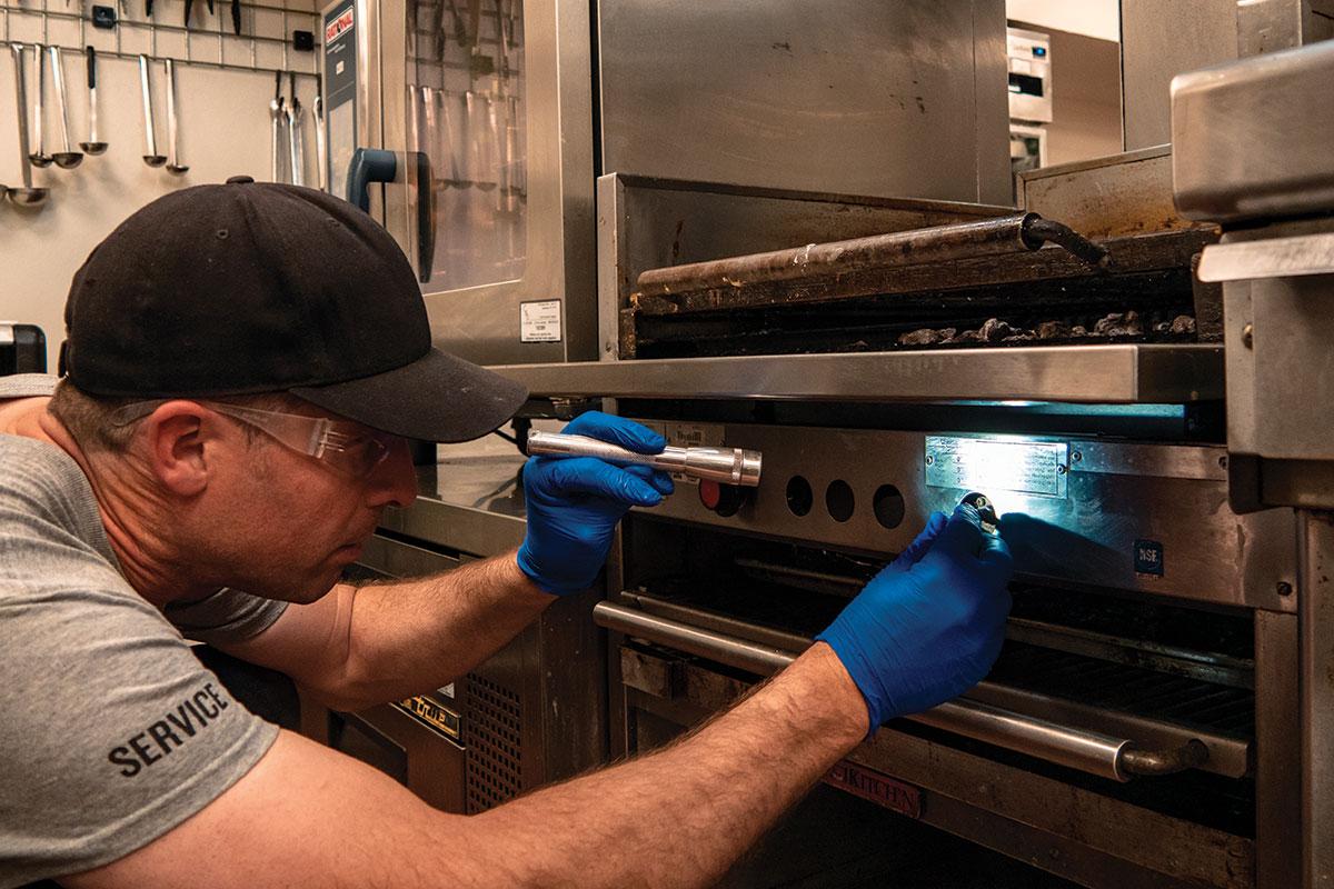 Charbroiler maintenance and repairs.