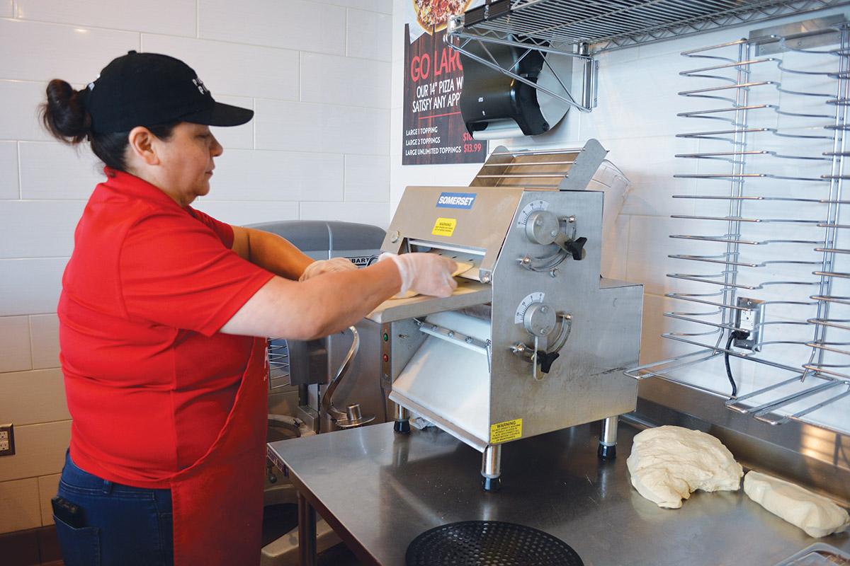 Pie Five Garden City Kansas Craft Dough Rolling Table Hobart Mixer