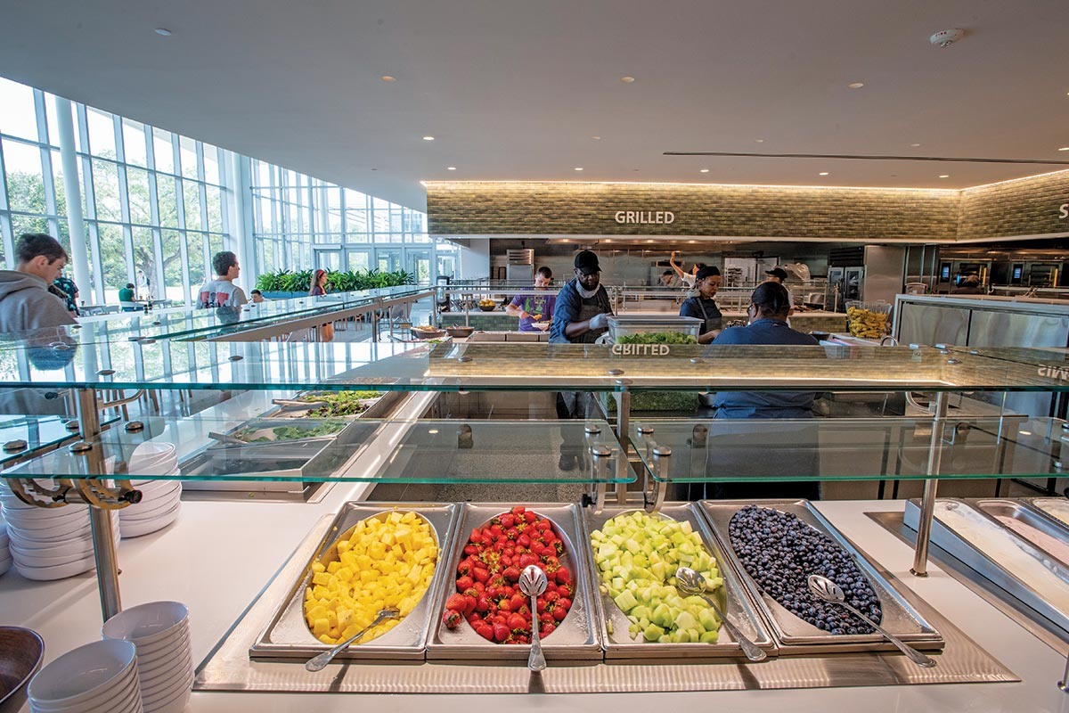 The Commons at Tulane University Adjustable Food Shields