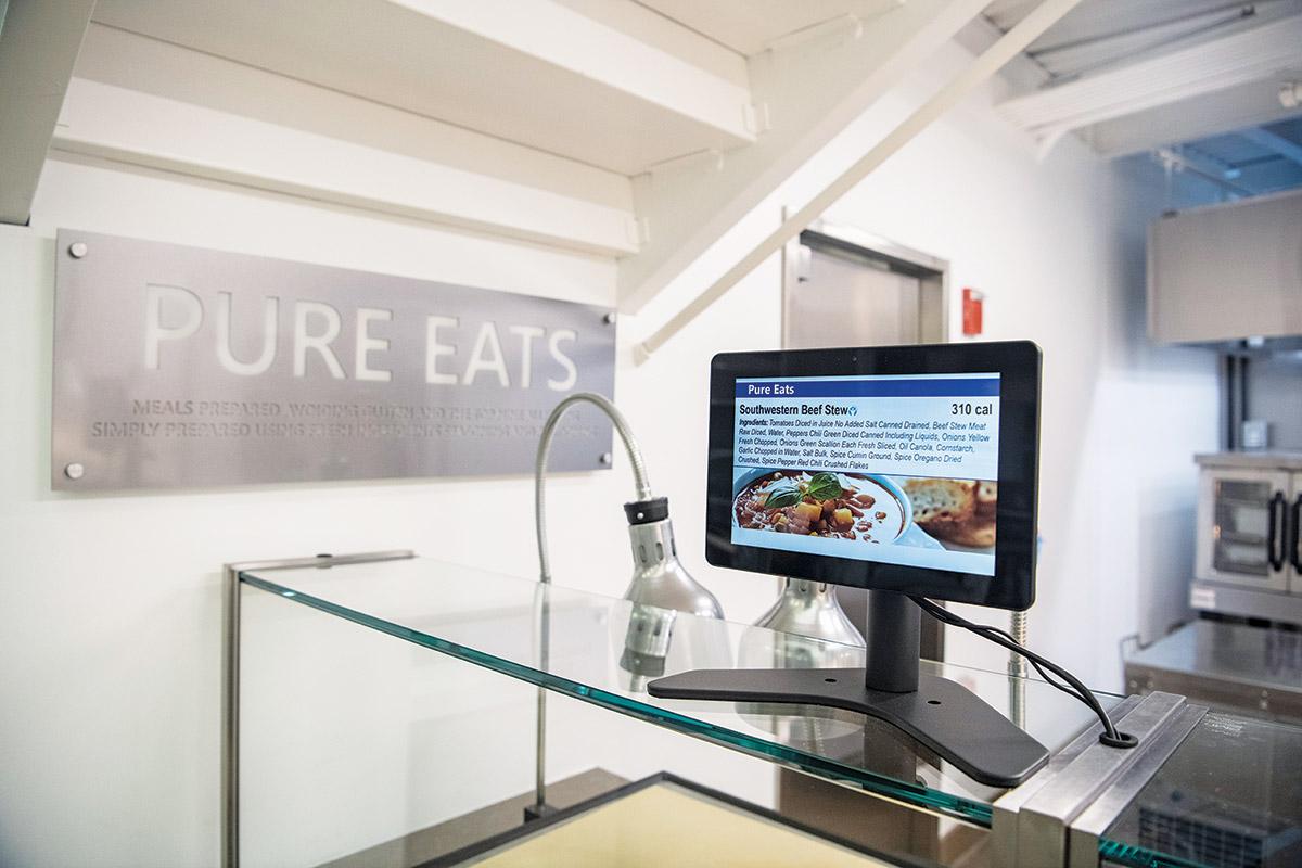 Northwestern University Allison Dining Commons Digital Monitors