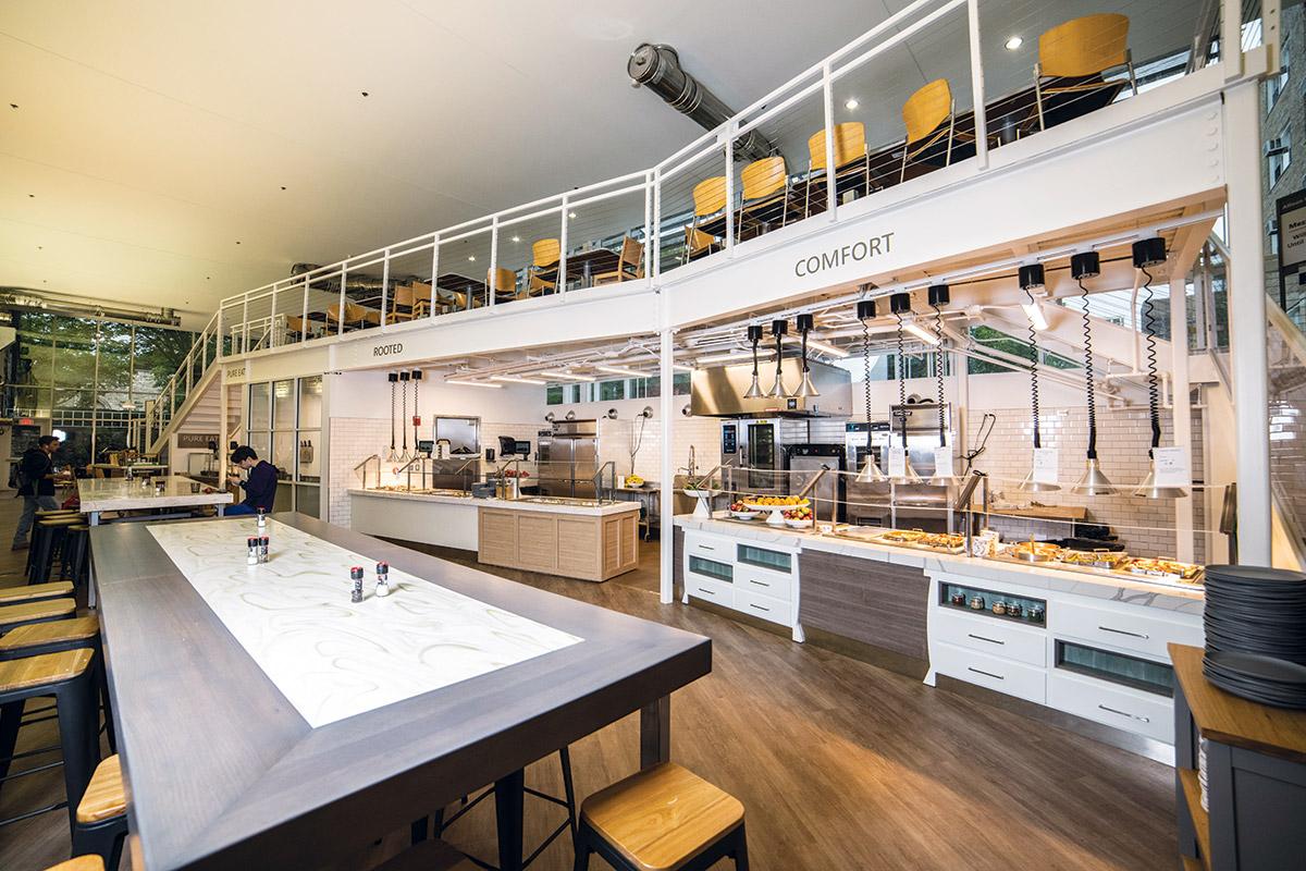 Compass Group Renovations at Northwestern University Dining Halls