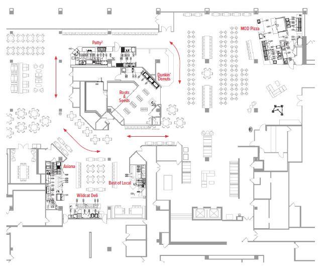 Northwestern University Dining Hall Floor Plan