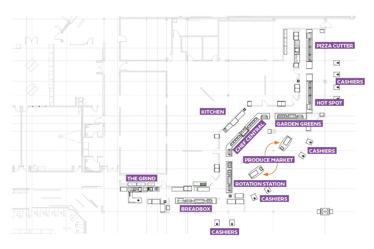 Brownsburg High School Cafe Floor Plan