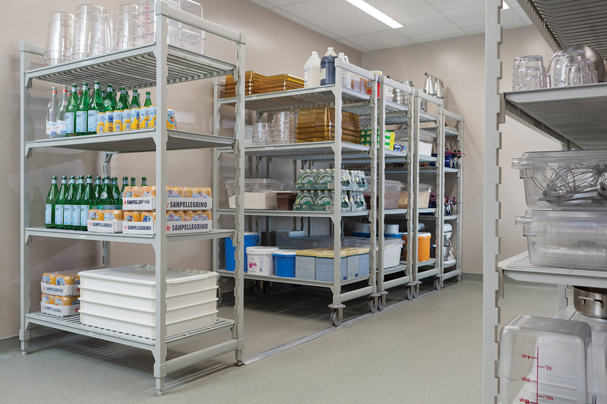Track Shelving With Antimicrobrial Protection