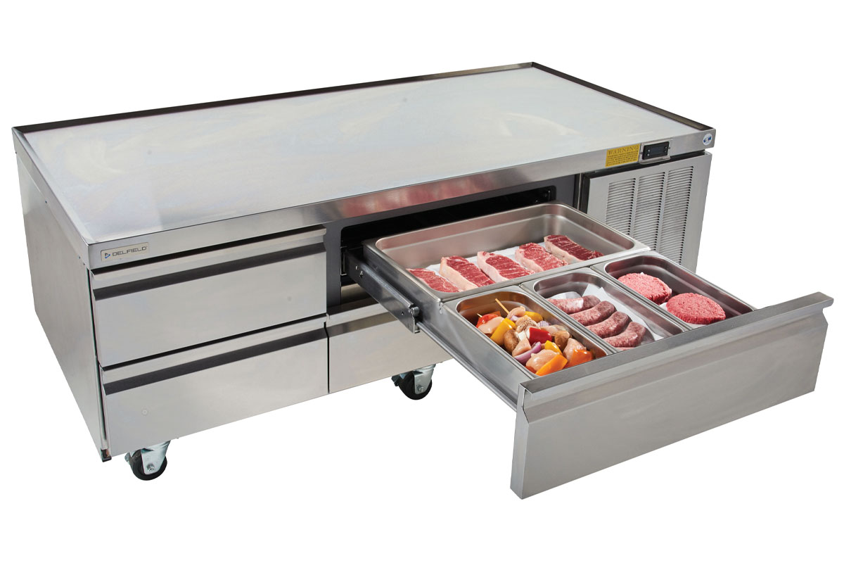 Drawer Construction Delfield Refrigerated Base