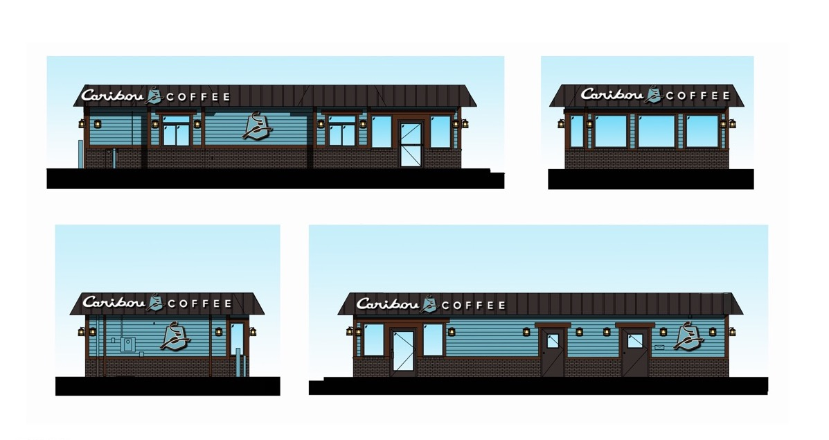 Caribou Coffee Cabin Walk Up Rendering