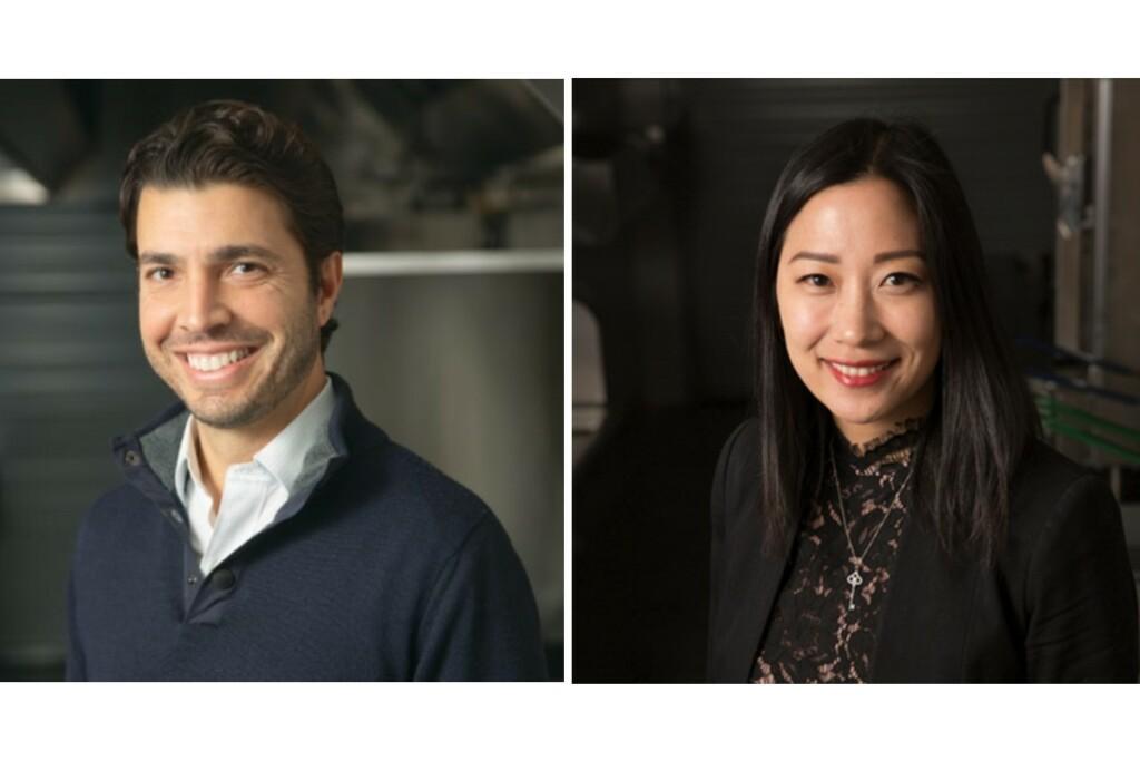 Kitchen United new CEO Michael Montagano (L) and CFO Joy Lai