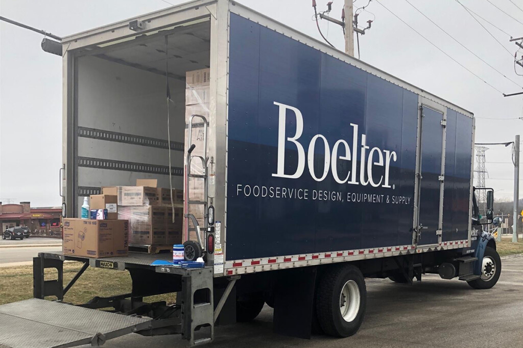 The store on wheels sold personal protective equipment, takeout containers and other supplies. Courtesy of Boelter.