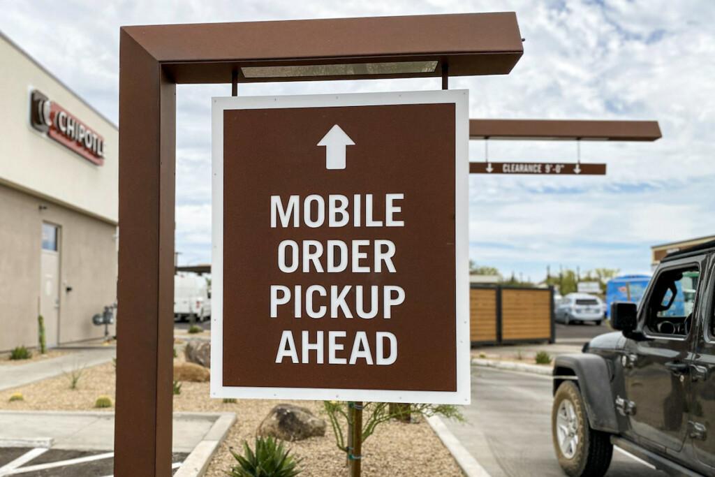 Chipotle Chipotlanes Mobile Order Pickup Sign