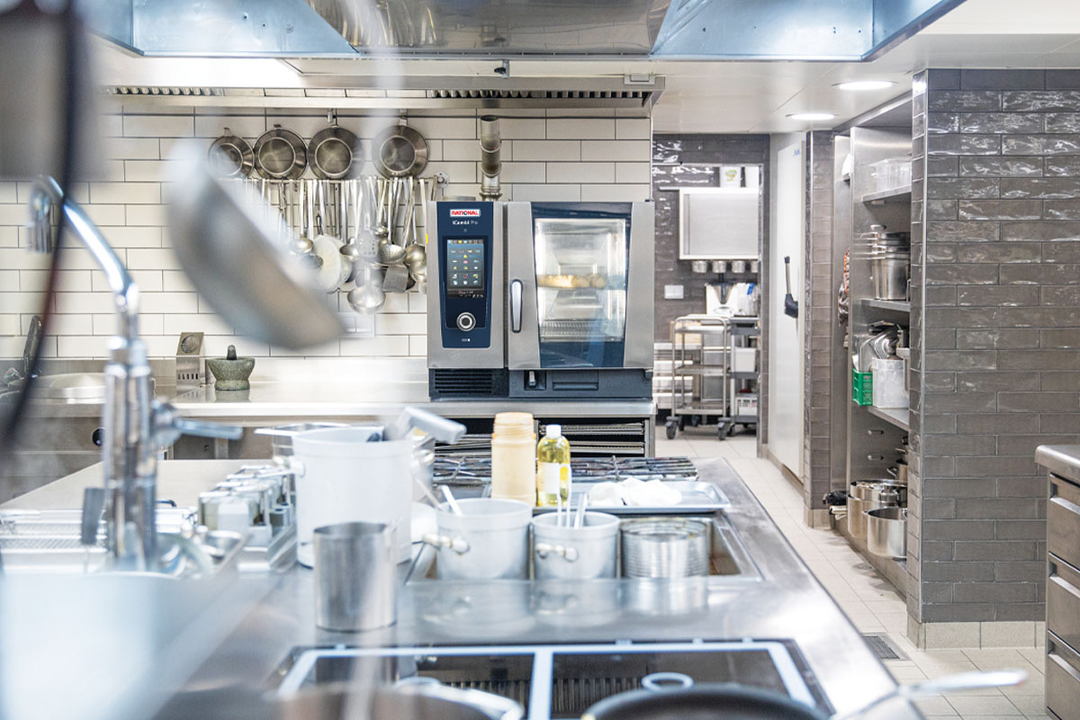An industrial connected kitchen