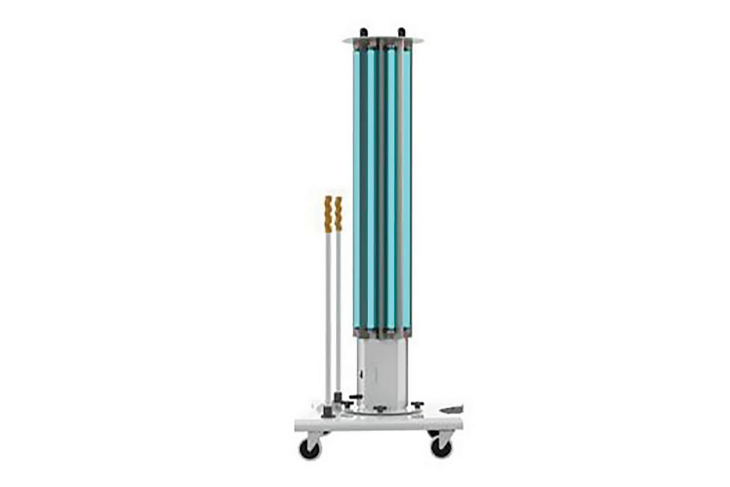 XtraLight's high-power, mobile UV-C system is made for treating and disinfecting large communal spaces in under 20 minutes. The unit comes with protective gear and signage for safe operation. XtraLight / xtralight.com