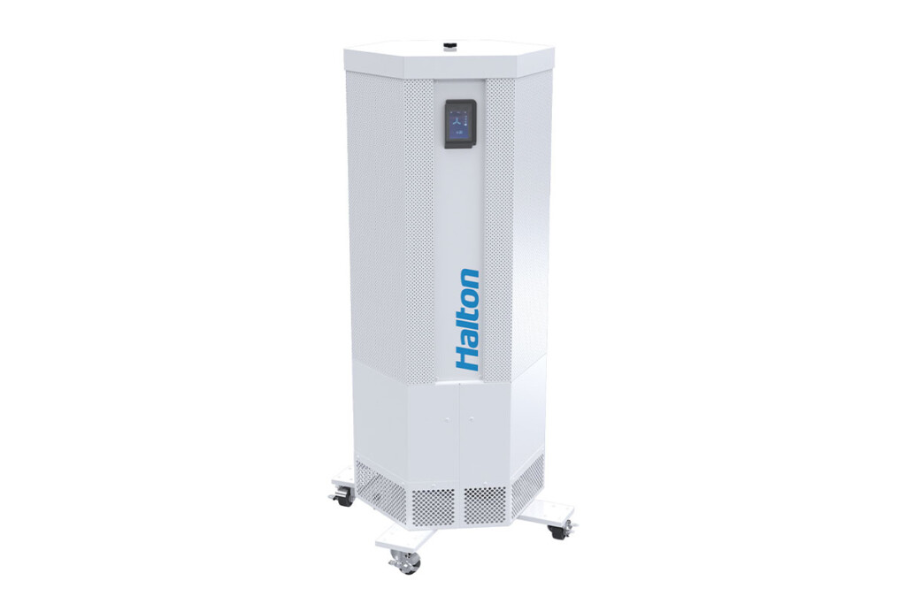 This Halton Sentinel mobile UV germicidal irradiation filtration unit goes where permanent air purification systems can't reach and uses MERV 13 air filters. Halton / halton.com