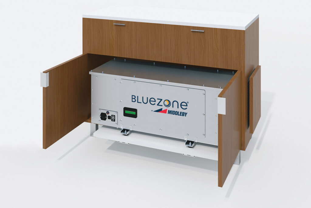 Instead of relying on mechanical filtration, Bluezone/Middleby Viral Kill units use UV-enhanced oxidation to chemically attack airborne contaminants including viruses, mold and bacteria. Middleby / bluezone.com