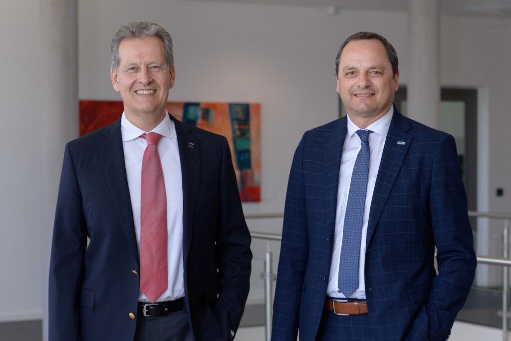 Dr. Johannes Haupt (left), CEO of Blanc & Fischer Family Holding, and Egon Kofler, CEO of Blanco Professional, are pictured. Photo Courtesy of Blanco Professional Group