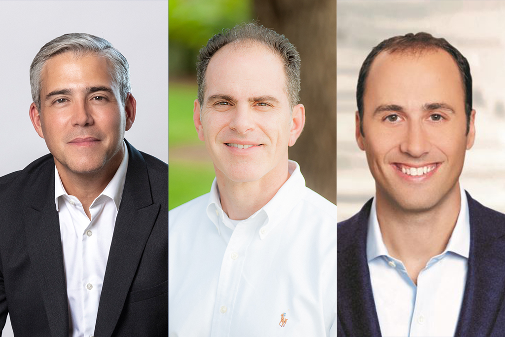 From left to right: Rafael Acevedo, Dunkin'; George Evans, Ruby Tuesday; and Mark Graff, Bloomin' Brands are pictured. Kathy Buckley (not pictured) also stepped up as chief financial advisor at Ruby Tuesday. Photos courtesy of Dunkin', Bloomin' Brands and Ruby Tuesday.